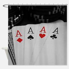 4 Aces Shower Curtain