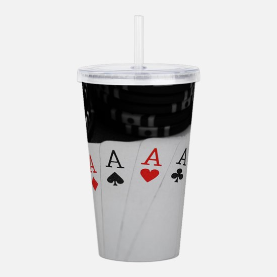 4 Aces Acrylic Double-wall Tumbler