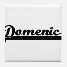 Domenic Classic Retro Name Design Tile Coaster