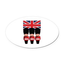 Royal Guard Oval Car Magnet