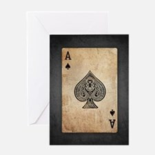 Ace Of Spades Greeting Cards