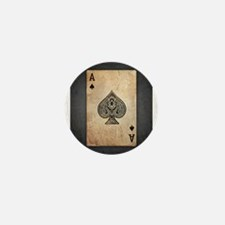 Ace Of Spades Mini Button (10 pack)