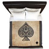 Ace of spades King Duvet Covers
