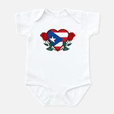 Heart Puerto Rico Infant Bodysuit