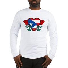 Heart Puerto Rico Long Sleeve T-Shirt