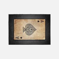 Ace Of Spades 5'x7'Area Rug