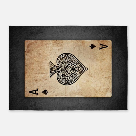 Ace Of Spades 5'x7'Area Rug
