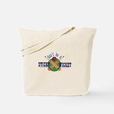 Sticky Wicket Tote Bag