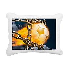 Ball Breaking Chain Net Rectangular Canvas Pillow