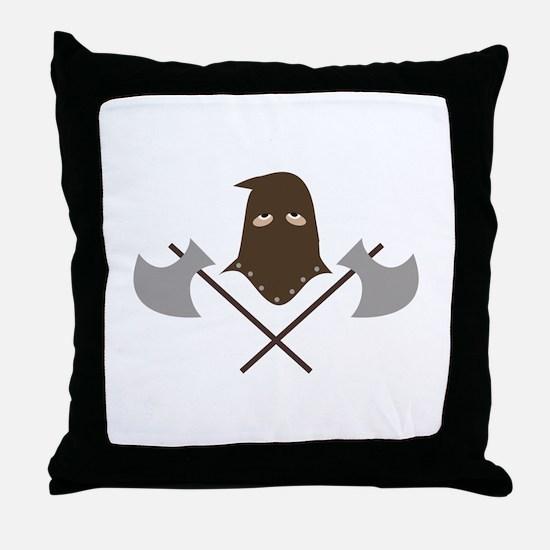 Executioner & Axes Throw Pillow