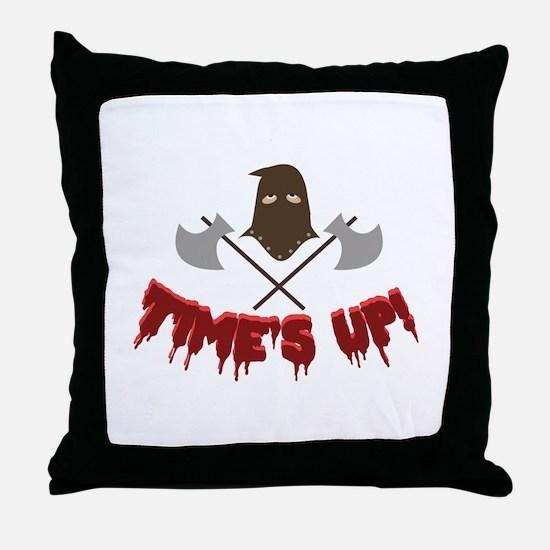 Time's Up! Throw Pillow