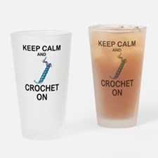 CROCHET - KEEP CALM AND CROCHET ON Drinking Glass