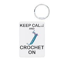CROCHET - KEEP CALM AND CR Keychains