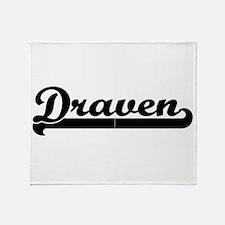 Draven Classic Retro Name Design Throw Blanket