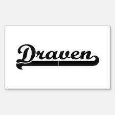 Draven Classic Retro Name Design Decal