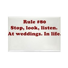 Rule #80 Rectangle Magnet