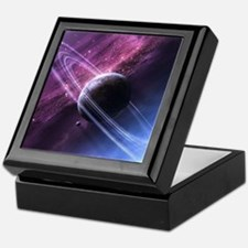 Planet Ring System Keepsake Box