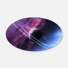 Planet Ring System Oval Car Magnet