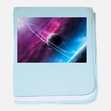Planet Ring System baby blanket