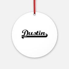 Dustin Classic Retro Name Design Ornament (Round)