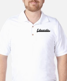 Eduardo Classic Retro Name Design Golf Shirt