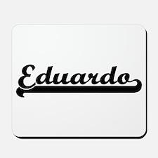 Eduardo Classic Retro Name Design Mousepad