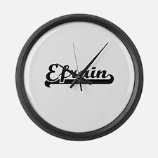 Efrain Classic Retro Name Design Large Wall Clock