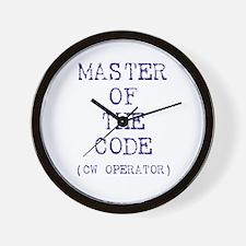 Master Of The Code (CW Operat Wall Clock