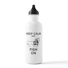 FISHING - KEEP CALM AN Water Bottle