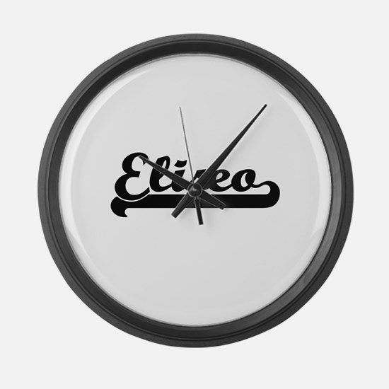 Eliseo Classic Retro Name Design Large Wall Clock