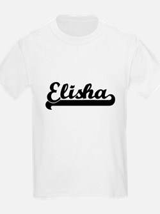 Elisha Classic Retro Name Design T-Shirt