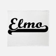 Elmo Classic Retro Name Design Throw Blanket