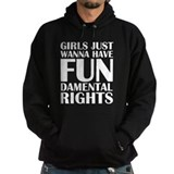 Girls just wanna have fundamental rights Hoodie (dark)