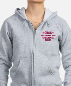 Girls Just Wanna Have Fun Zip Hoodie