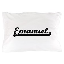 Emanuel Classic Retro Name Design Pillow Case