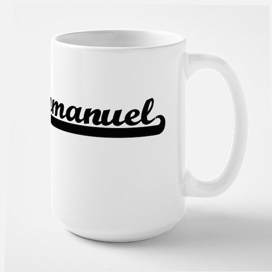 Emmanuel Classic Retro Name Design Mugs