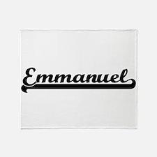 Emmanuel Classic Retro Name Design Throw Blanket
