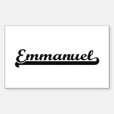 Emmanuel Classic Retro Name Design Decal