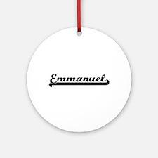 Emmanuel Classic Retro Name Desig Ornament (Round)