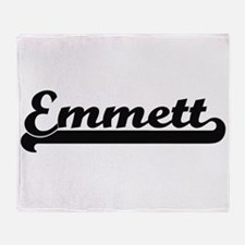 Emmett Classic Retro Name Design Throw Blanket