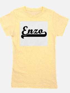 Enzo Classic Retro Name Design Girl's Tee