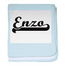 Enzo Classic Retro Name Design baby blanket
