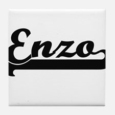 Enzo Classic Retro Name Design Tile Coaster