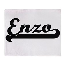 Enzo Classic Retro Name Design Throw Blanket