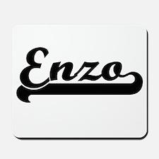 Enzo Classic Retro Name Design Mousepad