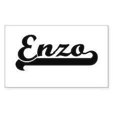 Enzo Classic Retro Name Design Bumper Stickers