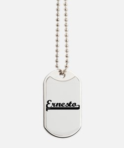 Ernesto Classic Retro Name Design Dog Tags