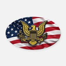 Great seal of the USA with America Oval Car Magnet
