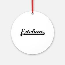 Esteban Classic Retro Name Design Ornament (Round)