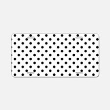 Girls just wanna have dots Aluminum License Plate